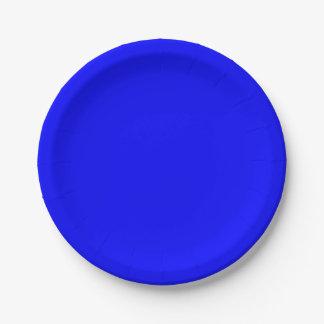 Blue Paper Plates