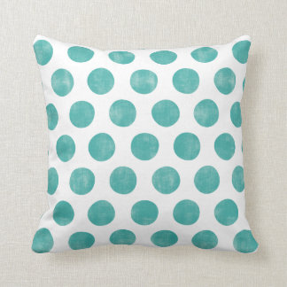 Blue Pastel Polka Dot Pillow Cushions