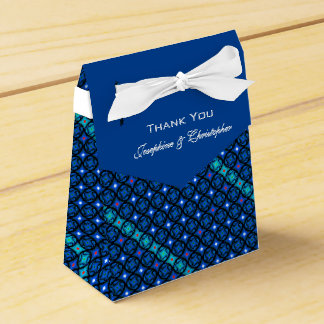 Blue Pattern Favour Boxes