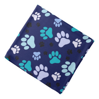 Blue Paw Prints | Dog Do-rag