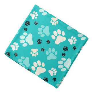 Blue Paw Prints | Dog Head Kerchiefs