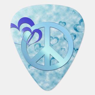Blue Peace Plectrum