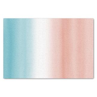 Blue Peach Ombre Tissue Paper