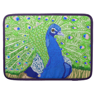 Blue Peafowl Sleeve For MacBook Pro