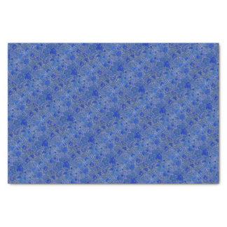 Blue Peonies Tissue Paper