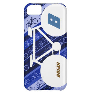 blue personalized bicycle modern sport design iPhone 5C case