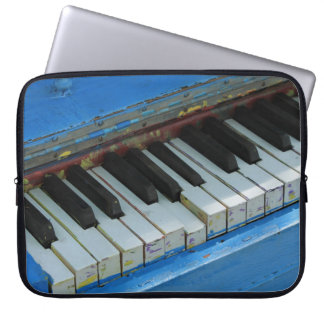 Blue Piano Laptop Sleeve