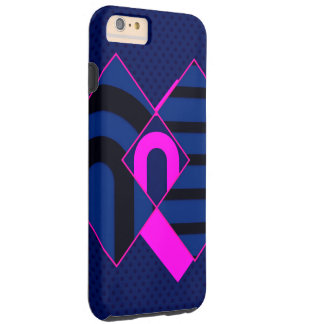 Blue Pink Abstract Tough iPhone 6 Plus Case