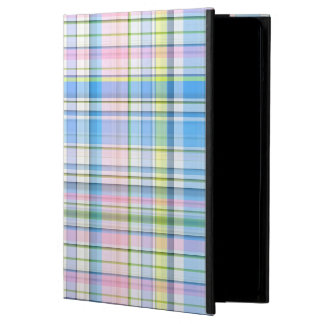 Blue Pink Yellow Wht Preppy Madras Cover For iPad Air