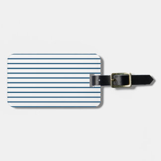 Blue Pinstripes Luggage Tag