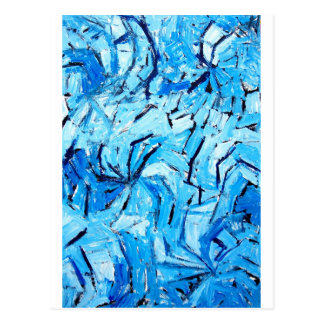 Blue Pinwheels ( abstract expressionism ) Postcard