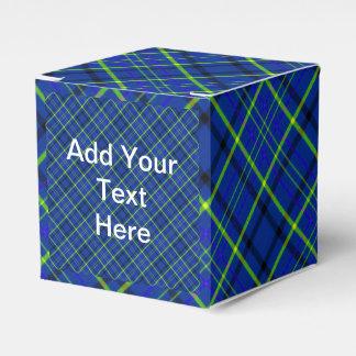 Blue Plaid Favor Box