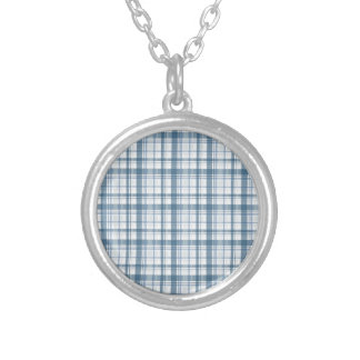 Blue Plaid Custom Necklace