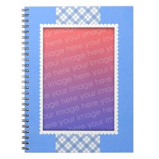 Blue Plaid Photo Template Notebooks