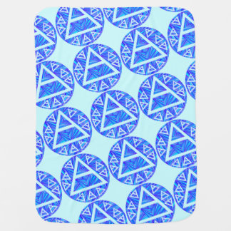Blue Plato s Air Sign New Age Triad Baby Blankie Receiving Blankets