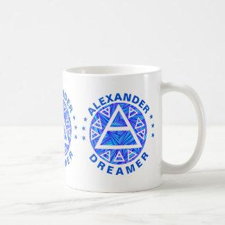 Blue Plato's Air Sign New Age Triad Symbol Mystic Coffee Mug