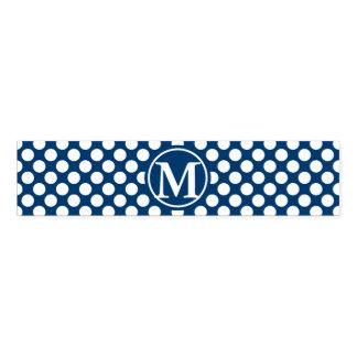 Blue Polka Dot Monogram Napkin Band