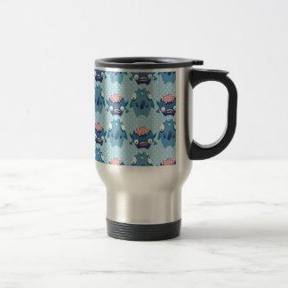Blue Polka Dot Monster Print Coffee Mug