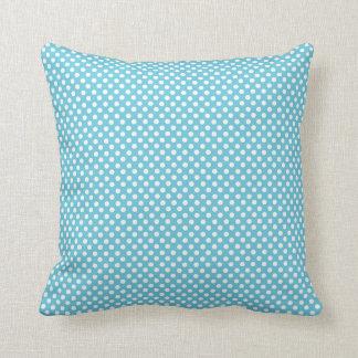 Blue Polka Dot Pillow Cushion