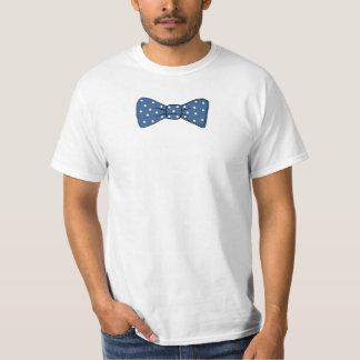 Blue polka dots bowtie shirt