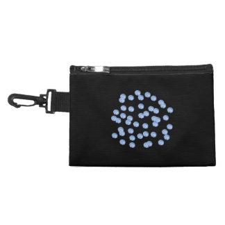Blue Polka Dots Clip-On Accessory Bag
