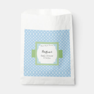 Blue Polka Dots Favour Bags