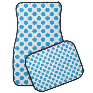 Blue Polka Dots Floor Mat