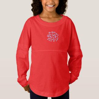 Blue Polka Dots Girls' Spirit Jersey T-Shirt