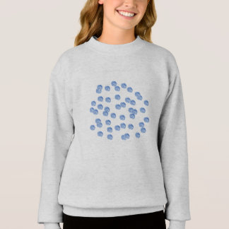 Blue Polka Dots Girls' Sweatshirt