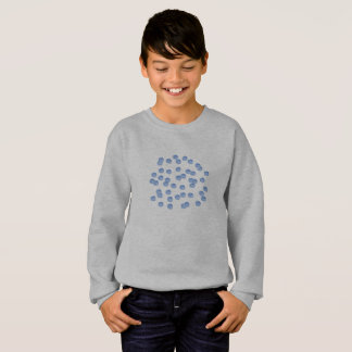 Blue Polka Dots Kids' Sweatshirt