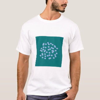 Blue Polka Dots Men's Basic T-Shirt