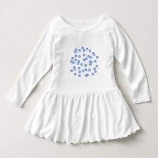 Blue Polka Dots Toddler Ruffle Dress