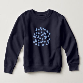 Blue Polka Dots Toddler Sweatshirt