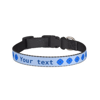 Blue poppy personalised pet collars