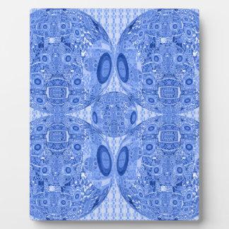 Blue Psychedelic Spheres Plaque