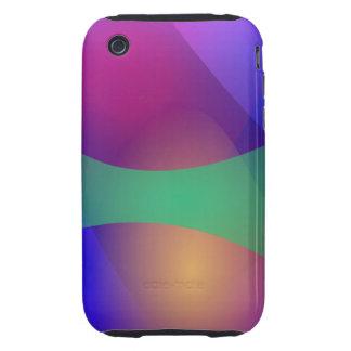 Blue Purple Green iPhone 3 Tough Cover