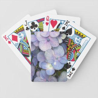 Blue Purple Hydrangea Playing Cards