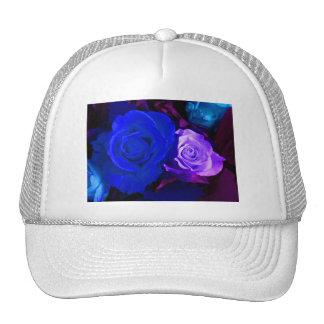 Blue Purple Rose Cap