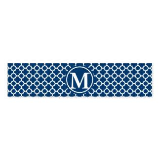 Blue Quatrefoil Monogram Napkin Band