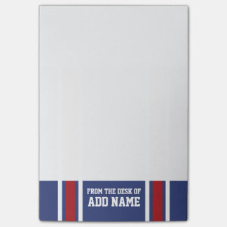 Blue Red Football Jersey Custom Name Number Post-it Notes