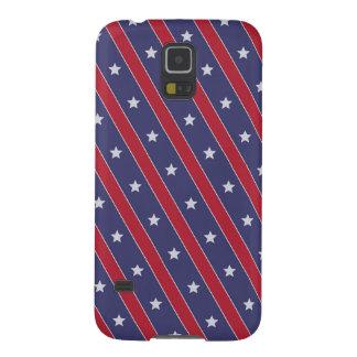 Blue Red Stripes Stars pattern Galaxy S5 Case