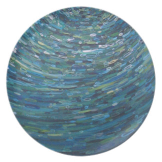 Blue Reflections Plate by Margaret Juul