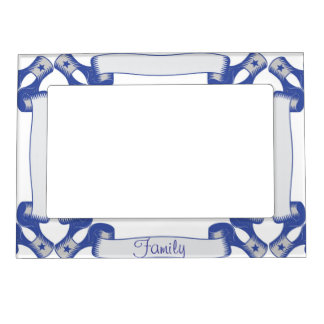 Blue Ribbon Family Magnetic Picture Frame