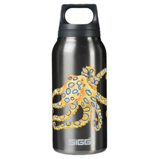 Blue Ring Octopus Insulated Water Bottle