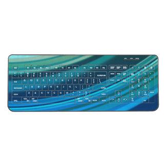 Blue Ripples Wireless Keyboard