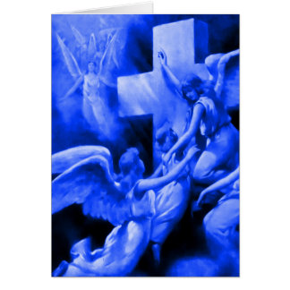 Blue Rock of Ages Card