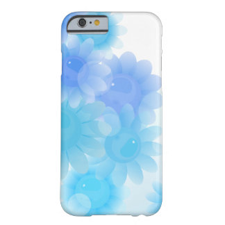 Blue romantic vintage flowers barely there iPhone 6 case