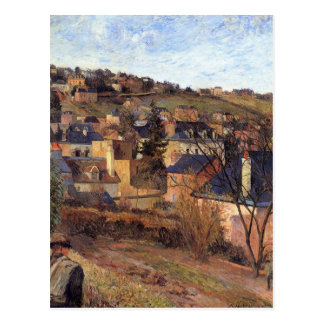 Blue roofs of Rouen by Paul Gauguin Postcard