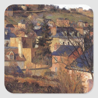 Blue roofs of Rouen by Paul Gauguin Square Sticker