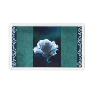 Blue Rose Classic Design Vanity Tray